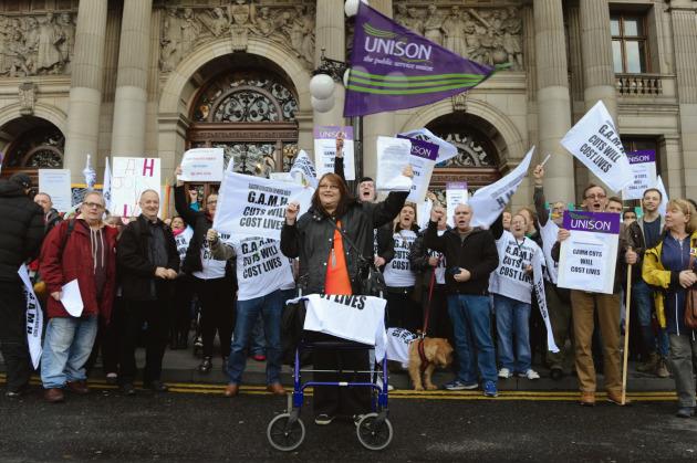 Glasgow Association of Mental Health demo